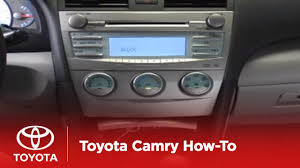 2007 - 2009 Camry How-To: Auxiliary Input - Single CD Player ...