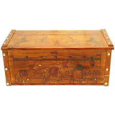 Large Wooden Boxes To Decorate Fun ca 60s Wooden Toy Box Chest with Circus Decoration 24