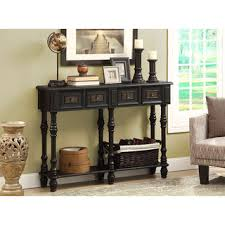 black console table decor. Fine Console Traditional Antique Black Veneer 48inch Console Table For Decor C