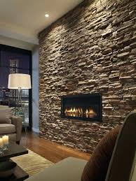 wall accent lighting. Stone Accent Wall In Living Room Dark Stacked Slate With The Inset Fireplace And Well Placed Lighting L