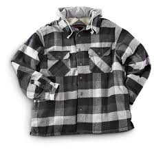 Northpoint® Fleece - lined Hooded Flannel Shirt Jacket - 200274 ... & Northpoint® Fleece-lined Hooded Flannel Shirt Jacket, Black Plaid Adamdwight.com