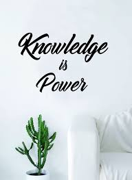 Knowledge Is Power Quote Gorgeous Knowledge Is Power Quote Decal Sticker Wall Vinyl Decor Art Living