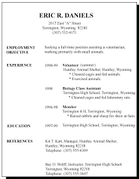 High School Resume For College Template Stunning Job Resume Examples Job Resumes Examples First Time Resume Template