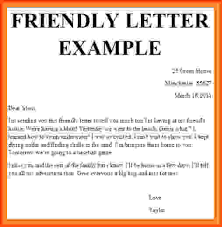friendly letter templates friendly letter example