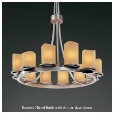 justice design 8763 14 dakota 12 light tall ring chandelier with melted rim glass loading zoom