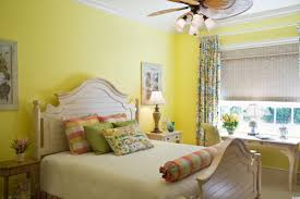 Home Decor For Bedroom Colorful Home Decor Ideas For Bedroom With Yellow Wall Painted And