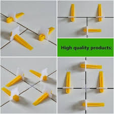 tiling spacers tile leveling system clips with wedges plastic tool gap prevent uk