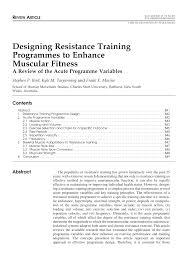 Design Resistance Pdf Designing Resistance Training Programmes To Enhance