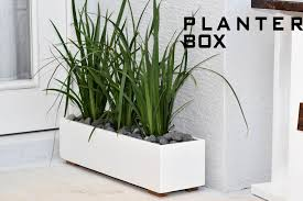 modern planter box  diy build  youtube