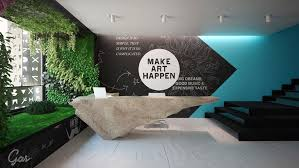 office wall design ideas. advertising agency office conceptual rendering and design by grosu art studio wall ideas l