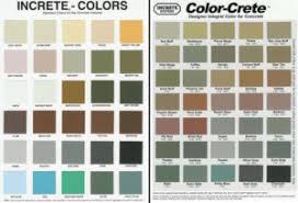 Increte Color Chart Fairfax Contractor