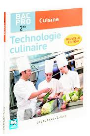 Formation Professionnelle Livre Technologie Culinaire