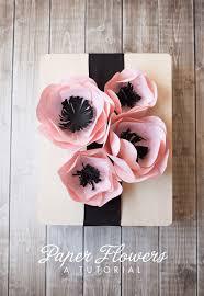 Cardstock Paper Flower Easy Cardstock Paper Flowers Party Ideas