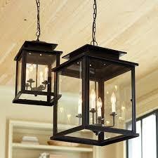black lantern pendant light