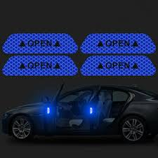 CK3224#9.3*2.5cm <b>4 PCS Car</b> anti-collision strips <b>open reflective</b> ...