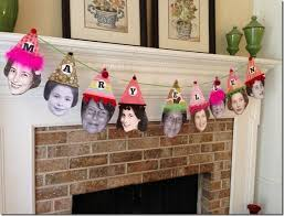 make your own birthday banner how to decorate with photos for a milestone birthday party