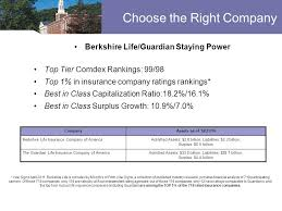 choose the right company berkshire life guardian staying power top tier comdex rankings 99