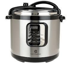 Cooks Brand Kitchen Appliances Cooks Essentials 10qt Round Digital Stainless Steel Pressure