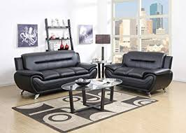 contemporary leather sofa sets. Interesting Sets GTU Furniture Contemporary Bonded Leather Sofa U0026 Loveseat Set 2 Piece  Set BLACK On Sets R