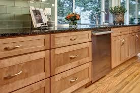 dayton maple caramel shaker cabinets