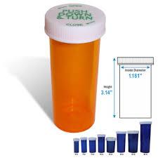 Pill Bottle Size Chart 16 Dram Amber Vial Prescription Bottles
