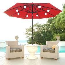solar powered patio umbrella lighted 9 ft rectangular solar powered patio umbrella lovable