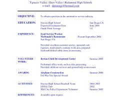 Job Resume Samples For High School Students Of Examples Imposing ...