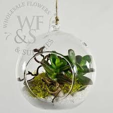 hanging glass terrarium globe votive holder um