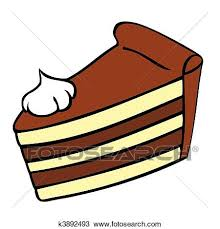 chocolate cake slice clip art. Chocolate Cake Slice And Clip Art Fotosearch