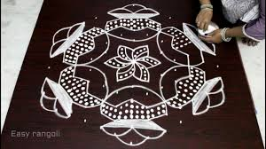 Bhogi Muggulu Designs With Dots Bhogi Kundalu Muguglu Designs With 13x7 Dots For Sankranthi