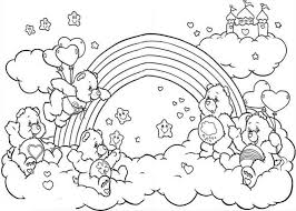 Small Picture All the Happy Care Bear Welcoming the Rainbow Coloring Page