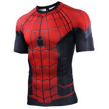 Spider Man Far From Home <b>3D</b> Printed <b>T</b> shirts Men Compression ...