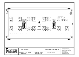 Image Modular 2story Office 182280sf Business Office Business Restroom Floor Plan Ramtech Building Systems Permanent And Relocatable Commercial Modular Construction Floor Plans