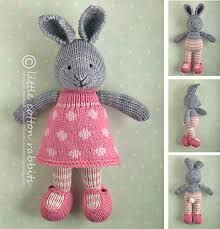 Ravelry Patterns Cool Ravelry Bunny Girl In A Dotty Dress Pattern By Julie Williams