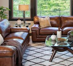 a minnesota casual family room brown leather sofasleather