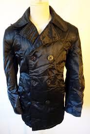 spiewak shiny peacoat black titan police jacket medium m vintage 1 of 11only 1 available