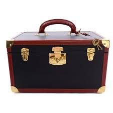 vintage bottega veneta black cosmetic train case w tan leather trim keys and bag for at 1stdibs