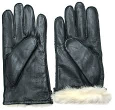 fownes men s rabbit fur lined black napa leather gloves at men s clothing