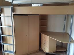 bunk bed cabin bed with wardrobe desk all in one