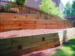treated landscape timbers retaining wall