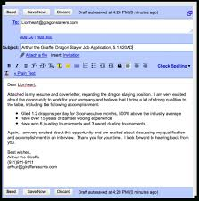 email cover letter resume