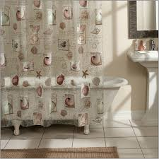 enticing white bathtub and enchanting brown area rugs bathmat and fascinating pedestal sinks interesting blue long shower curtains