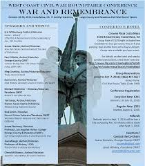 west coast civil war roundtable conference in costa mesa october 28 30 2016