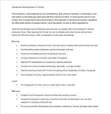 New Employee Training Program Template New Hire Orientation Agenda Magdalene Project Org