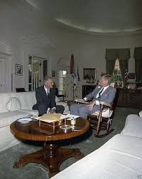 Jfk in oval office Painting President John F Kennedy Meets With Henry Cabot Lodge In Oval Office 8x10 Photo Picclick President John F Kennedy Son At Resolute Desk Oval Office 8x10
