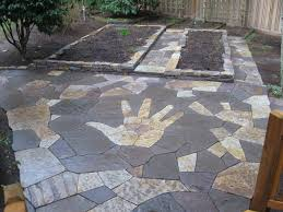 rock n dirt yard flagstone patio