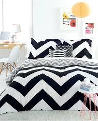 chevron black 5 piece full queen comforter set and white