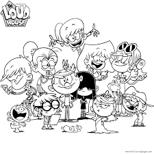 The Loud House Coloring Pages Getcoloringpagescom