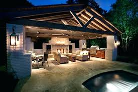 Outdoor Kitchen With Fireplace Fireplaces