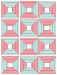 34 best Quilts: Courthouse Steps images on Pinterest   Log cabin ... & Courthouse Steps pattern , turned on its head every second block. Adamdwight.com